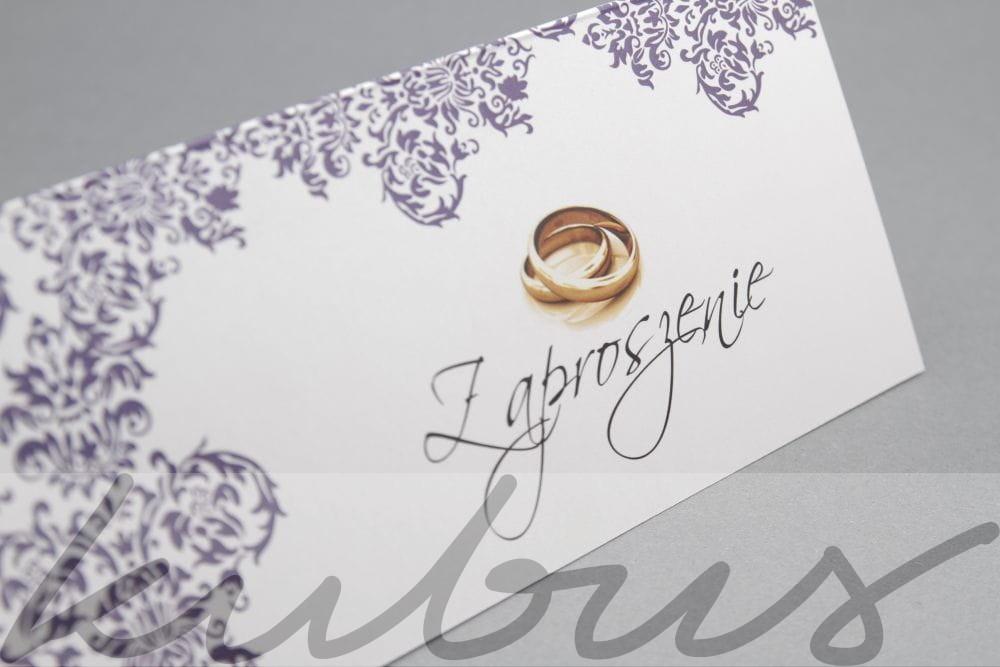 Zaproszenie ślubne Z Koronką Fioletową Reklamakubuspl