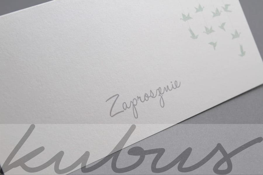 Zaproszenie ślubne Origami Ptaszki Reklamakubuspl