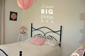 Dream big little one NAPIS NA ŚCIANĘ